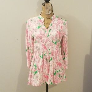 Lilly Pulitzer Flamingo Print Tunic medium